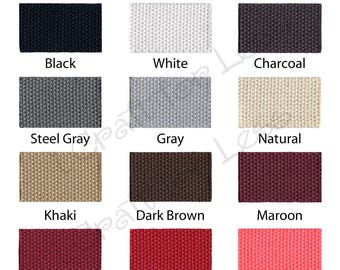 """15 yards Cotton Webbing - 1.25"""" Medium Heavy Weight for Key Fobs, Purse Straps, Belting - SEE COUPON"""
