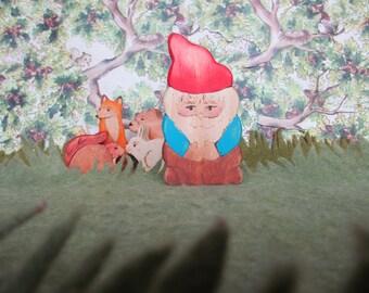 Toy Gnome  - Waldorf natural wood toys Dolls & Action Figures Miniature Toys fun gift