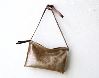 sale - EDC Crossbody Compartment Clutch - clutch or crossbody bag - with clip on crossbody strap - select leather color in drop down menu