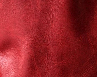 New Garnet - vegetable tanned leather - choose this leather for selected bags or purchase a swatch