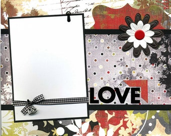 Love - 12x12 Premade Scrapbook Page