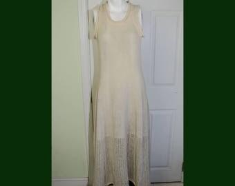 Vintage 1990's Designer Yohji Yamamoto Y's Sleeveless Wool Knit Dress