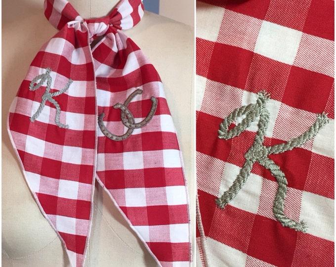 Personalized Western Tie Scarf