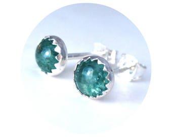 Gemstone Stud Earrings, Aventurine Earrings 5mm, Jewelry For Her, Green Earrings Studs
