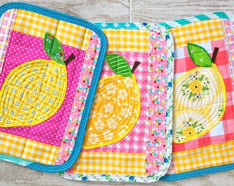 I Love Lemons -- Quilted Mug Rug (pick one)