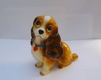 Disney Lady of Lady and the Tramp Dog Figurine Ceramic Figurine Made in Japan