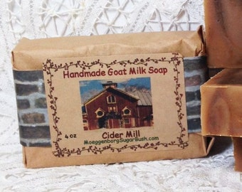 Goat Milk Soap Cider Mill Handmade  Cold Process Moeggenborg Sugar Bush