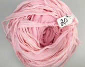 Silk sari ribbon, Silk CHIFFON Sari Ribbon, Pink chiffon sari ribbon, pink sari ribbon, Tassel supply, knitting supply, pink ribbon