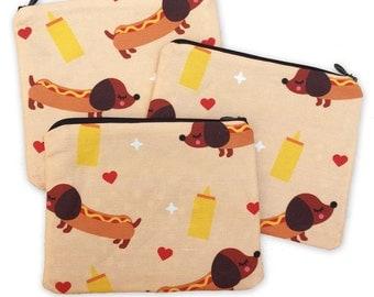 Wiener Dog Zipper Pouch - Coin Purse