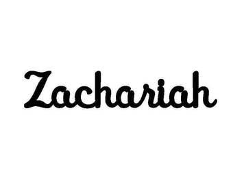 """Custom Zachariah sign 34"""" wide"""