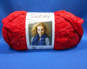 Red Heart Boutique Sashay yarn, RED