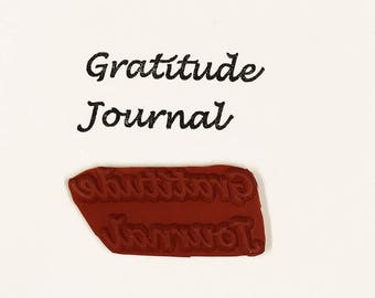Gratitude Journal - Altered Attic Rubber Stamp - CLEARANCE - Creative Artist Book Diary Page Title - Art Craft Scrapbook Mixed Media