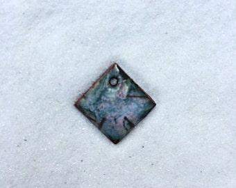 Small Enamel Diamond Shaped Charm