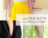 Add pockets to any dress or skirt -  Purchase this listing with any skirt order to have it made with two hidden side pockets