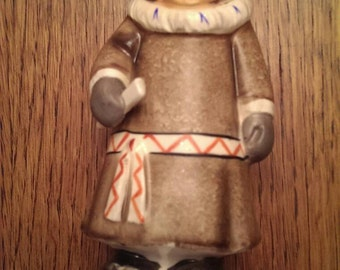 Vintage Eskimo Woman Figurine by Kelvin