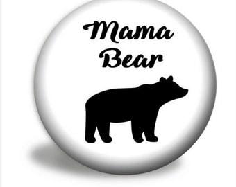 Mama Bear Pocket Mirror, Pocket Mirror Favors - Choose Your Color