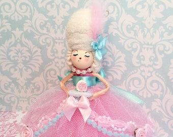 Marie Antoinette doll Marie Antoinette ornament french france paris let them eat cake pink vintage retro inspired art doll