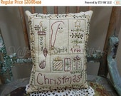 ON SALE Decorative Christmas Pillow, Santa, Stocking, Joy, Christmas Tree, Presents