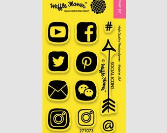 Waffle Flower Social Media Stamp set
