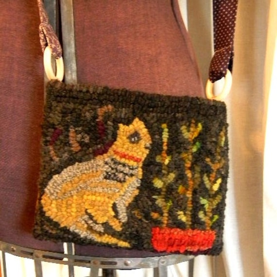 Scrap Cat Hooked Rug Purse - PDF - from Notforgotten Farm™