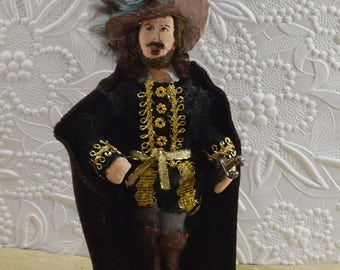 Alexander Dumas Three Musketeers Captain d'Artagnan Doll Miniature Story Character French History