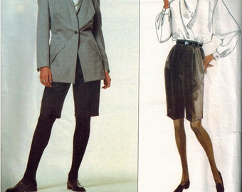 OOP Vogue 2720 Issey Miyake Sewing Pattern Jacket Shirt and Shorts Dated 1991 Size 14