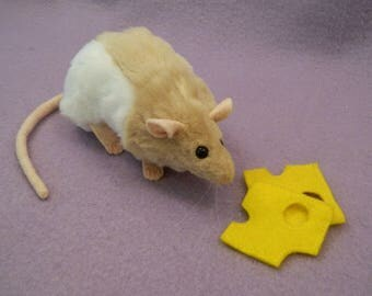 Beige Hooded Rat Plushie