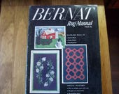 BERNAT RUG MANUAL  No frame rugs  latch hook, cross stitch, needlepoint c1953