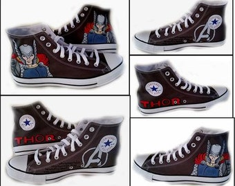 Thor, Avengers, Comics, Geek, Chuck Taylor, Wedding, Sneakers, Mens Shoes, I Do, Shoe Color Black or Grey, Shoes Inlcuded