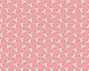 ON SALE Riley Blake Designs Garden Girl by Zoe Pearn - Posies Pink