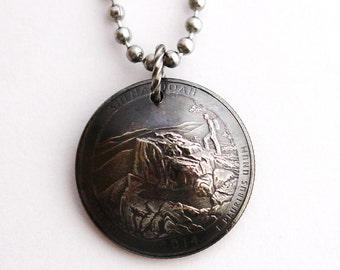 Shenandoah National Park, Domed Coin Necklace, U.S. Virginia Quarter Pendant Jewelry Hendywood CPQE28