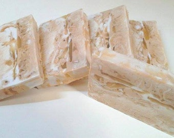 Honey Almond Soap - Goats Milk and Glycerin swirl bar