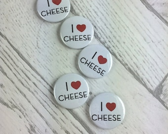 I Love Cheese Pin Badge