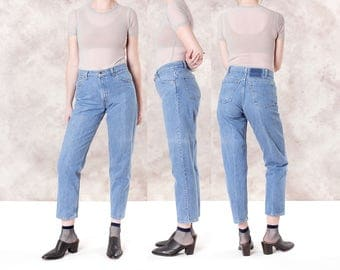 HIGH WAIST JEANS levis 550 Mom Jeans vintage denim Boyfriend skinny / Size 9 10 / waist 31 / better Stay together
