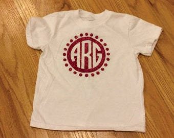 Polka Dot Circle Monogram Tee