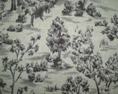 "French General Arbe Toile Linen Fabric Yardage Greyscale 57"" x 25"