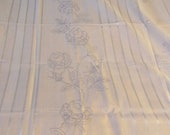 Spring Sale Vintage Rectangle Table Cloth to Embroider.