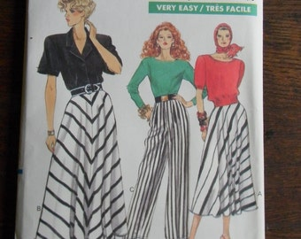 Vintage Vogue Pants and Skirt Pattern #7479 Uncut Sizes 14 thru 18