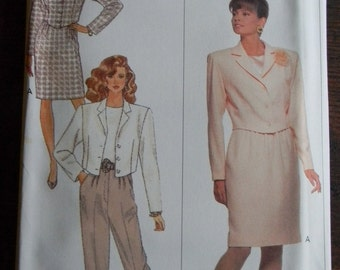 Vintage Butterick Misses Jacket, Top, Pants and Skirt Pattern #6816 Uncut Sizes 14 thru 18
