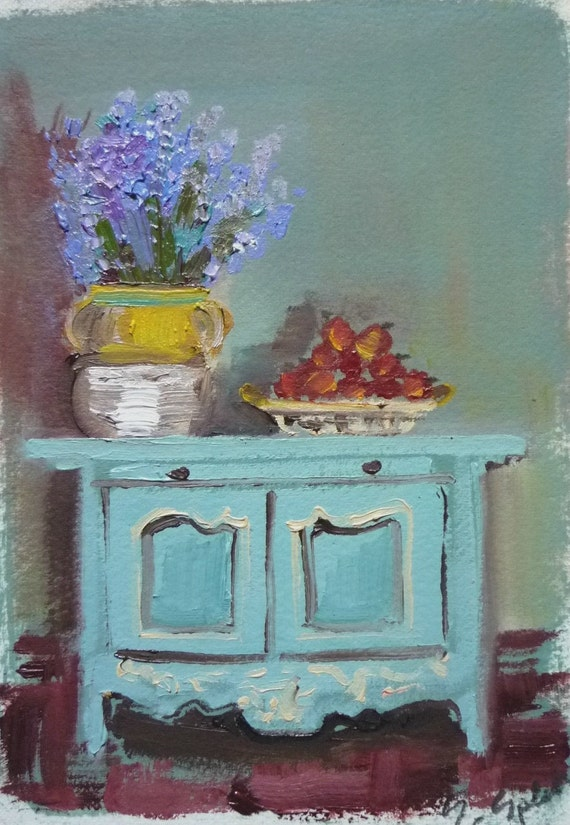 Provence Sideboard Fine Art Print French Country