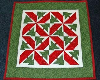 Pinwheel Pines Christmas Miniature Quilt