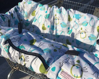 Shopping Cart cover  for boy or girl.... Pets A'Plenty Robin the Hood Aqua