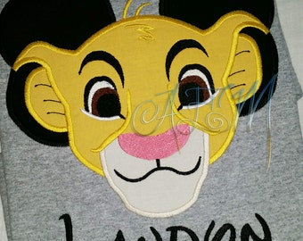 Simba Mousehead Personalized Shirt