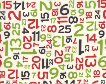 Hometown Christmas (5665 11) Multi Countdown by Sweetwater - Fat quarter