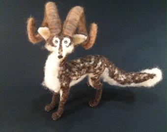 Animal Totem, Spirit Guardian, Nature Dragon- Made to Order- Needle Felted Fantasy Sculpture