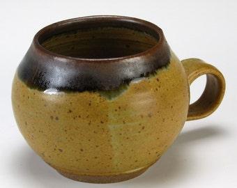 Large Brown Rim Bubble Cup