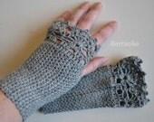 ALEXIA, Crochet glove pattern, PDF