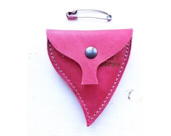 LEAF Handmade leather coin purse #3255 mischief