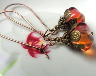 Amber Earrings, Dangle Earrings