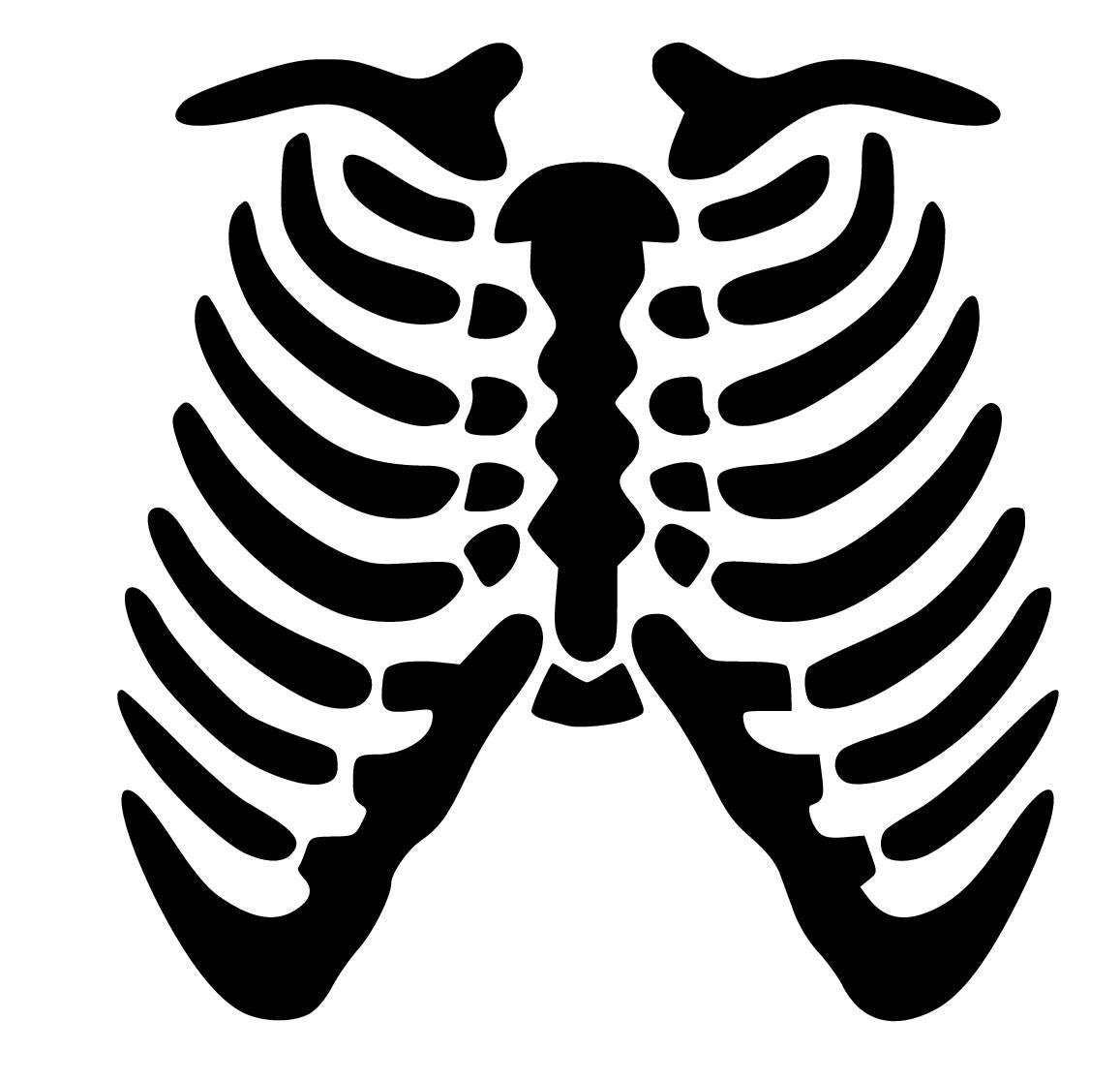 Skeleton Rib Cage Svg Studio Pdf Eps Dxf